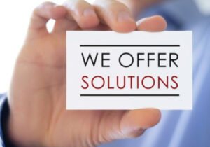 offer solutions to customers